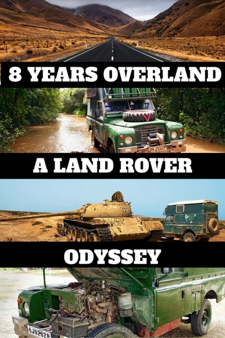 """During the eight year period from 2002 – 2010, he set out with his 30 year old Land Rover """"Matilda"""" on an overland journey to """"go where no Landrover had ever gone before""""!"""