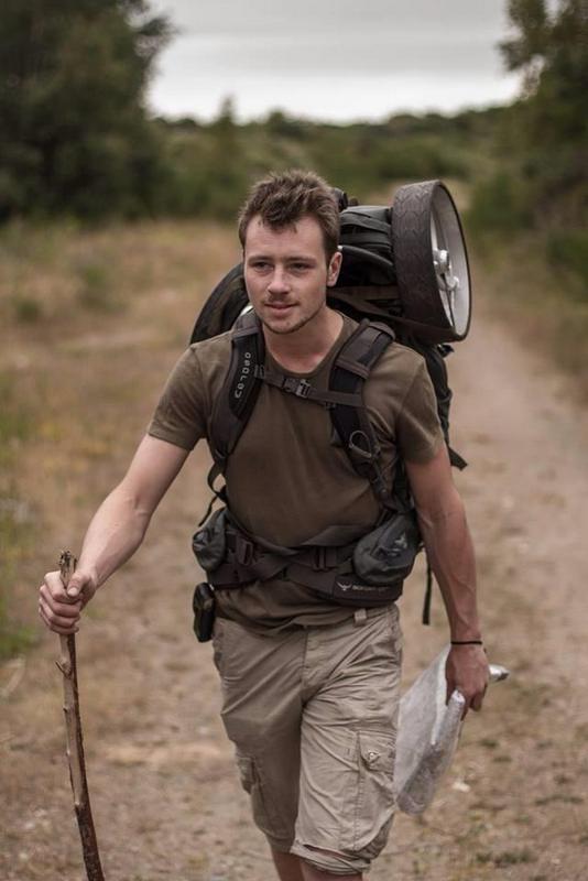 Charlie Christensen is Walking around the world to raise money for clean drinking water