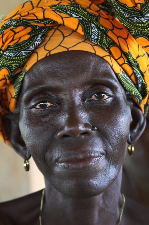 Woman in Sierra Leone, West Africa.