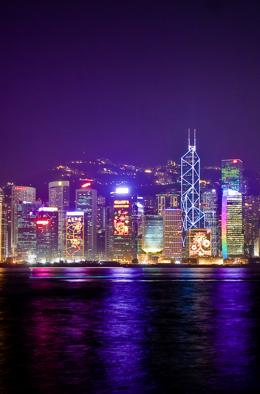Take the classic Star Ferry at night (from Central to Kowloon) right before 8pm to witness the world's largest permanent light and sound show – The Symphony of Lights.