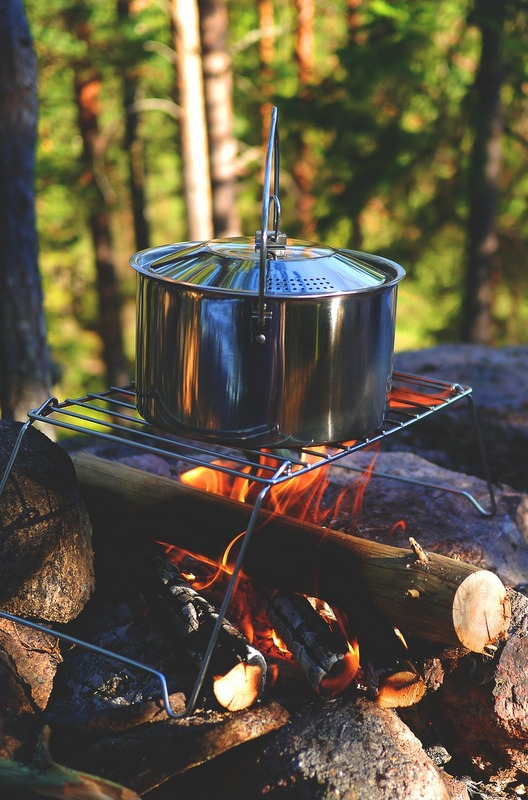 You're probably going to want to actually cook food at some point; this is where a small camping stove will come in very handy.