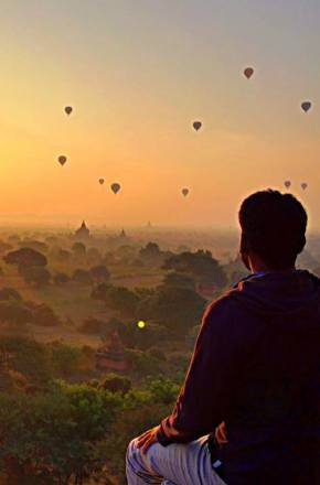 Waking up early in the morning to see the sunrise was far more rewarding in Bagan than in Angkor Wat.