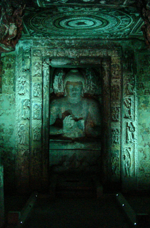 The thirty rock-cut caves of Ajanta which date back to 100 BCE are the finest examples of Indian art through the ages.