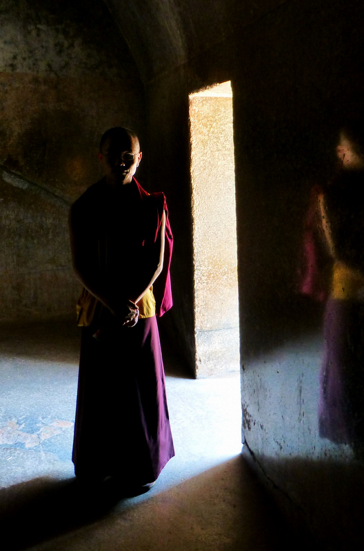 Barabar Caves are dark and resonate sound in a deep harrowing echo throughout the cave walls.
