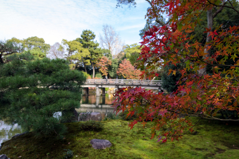Stone bridge at Kyoto National Garden Gyoen