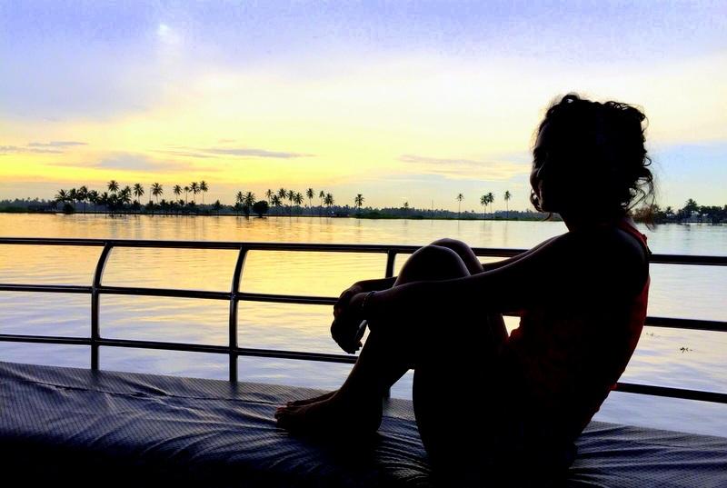 Kerala houseboat sunset