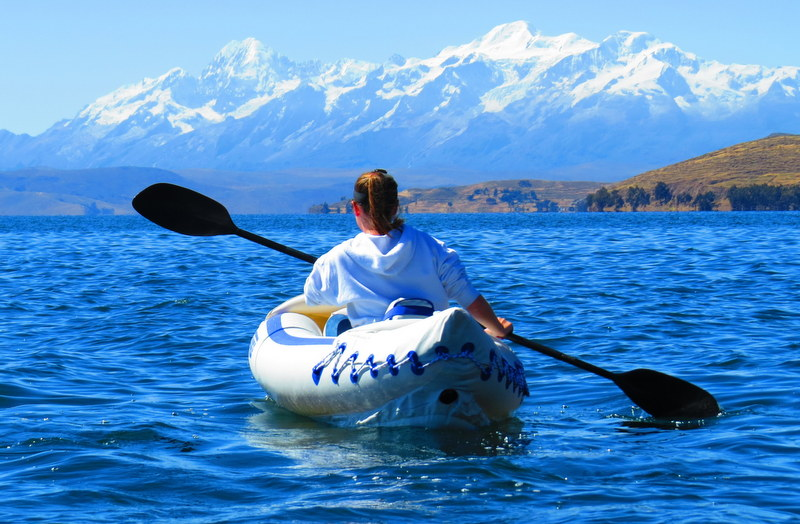 Kayaking Lake Titicaca