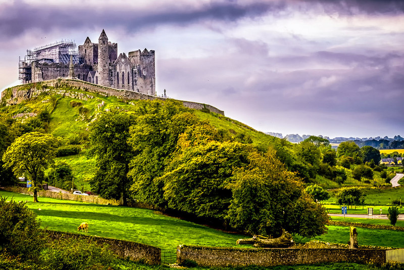 Rock of Cashel – the ruins of a tower, chapel, cathedral, castle and hall built on a limestone outcrop during the 12th, 13th & 15th centuries.
