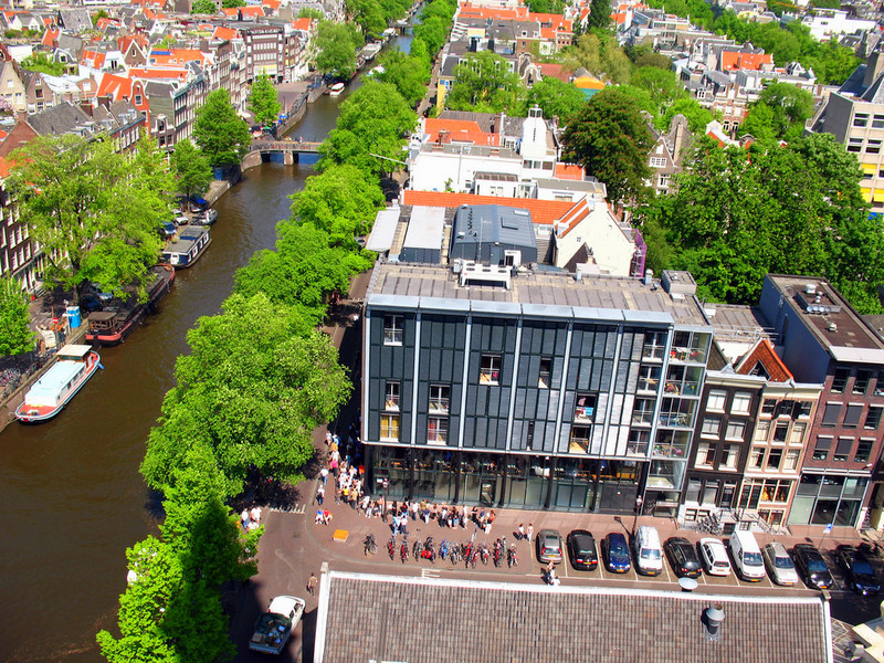 Viewed from tower of Westerkirk churck in Amsterdam, Netherlands.