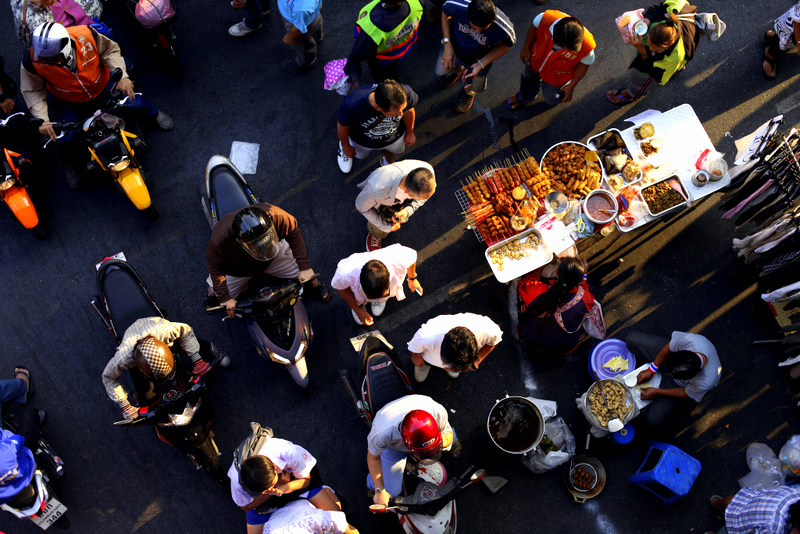 Bangkok Street Food from above