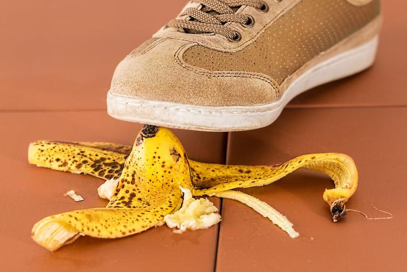 Slip on a banana
