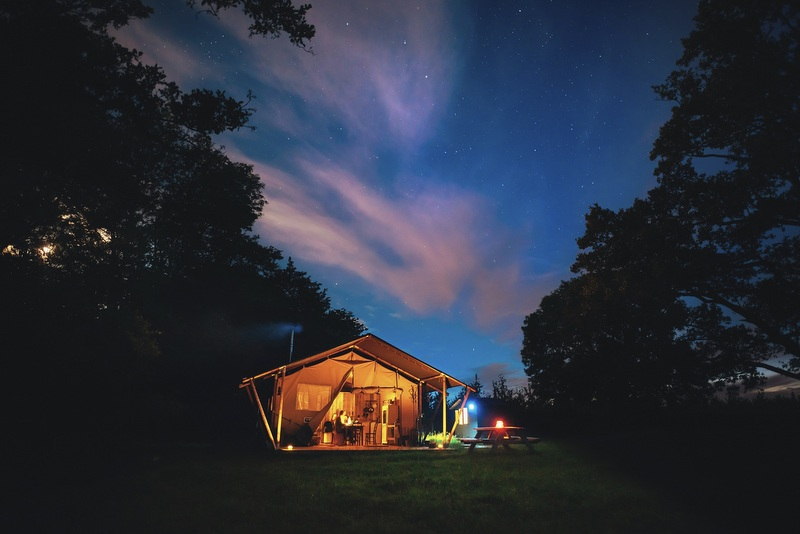Glamping embodies all the ideals of camping but adds a touch of class.