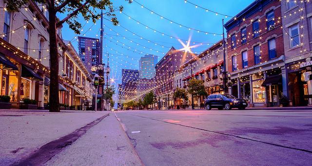 Larimer Square in Denver (Twilight Shot)