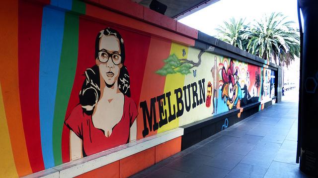 Southbank Mural. Melbourne