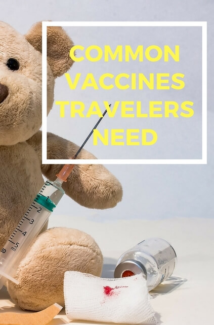 If you've decided to travel abroad, one of the wisest things you can do is immunize. We've outlined the 5 most common vaccines.