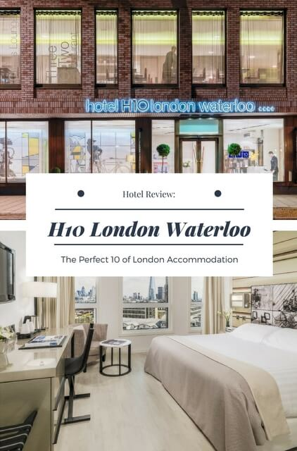 A review of the H10 #London Waterloo; a stylish luxury boutique, quintessentially British, and perfectly positioned on London's famous Waterloo Road.