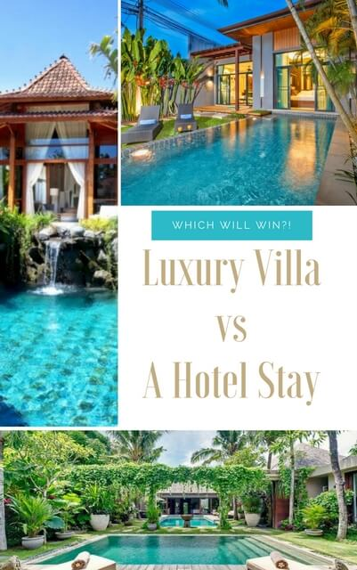 Reasons to stay in a villa over a hotel.