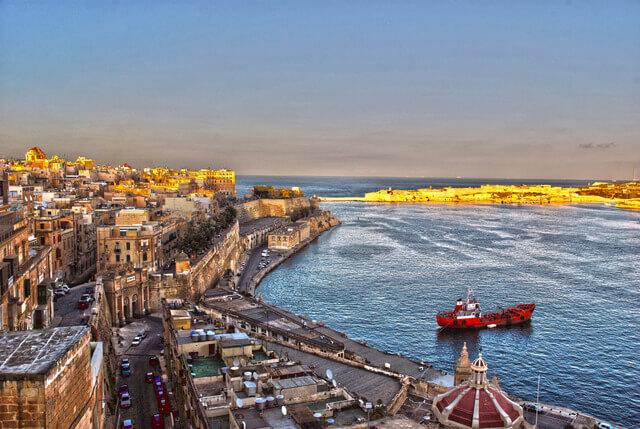 Malta: view from Valetta