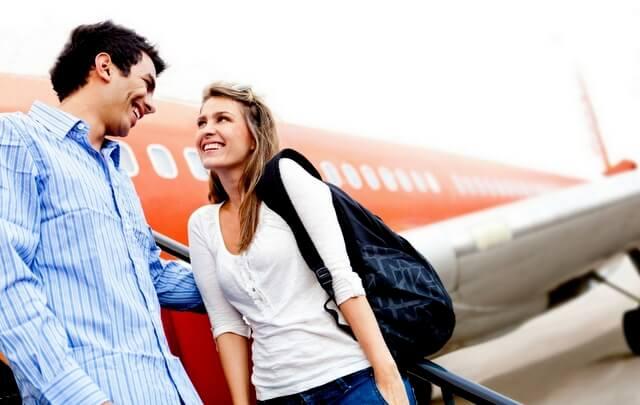 Flying plane airport travel traveler