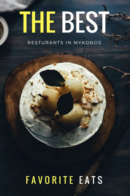 Best restaurants in Mykonos