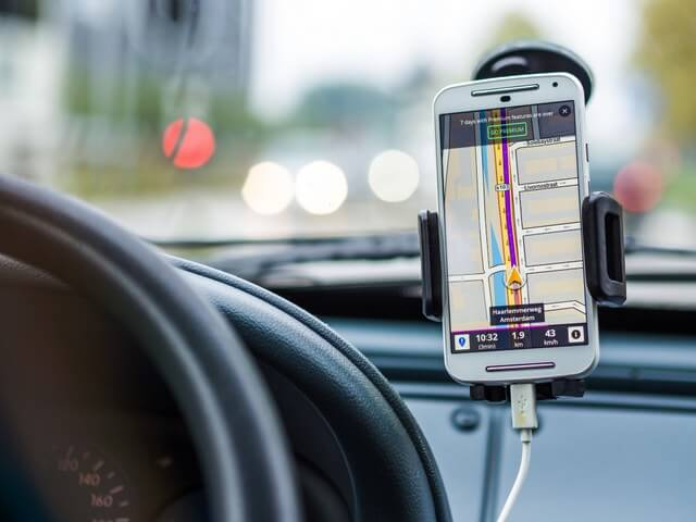 Phone car GPS RF