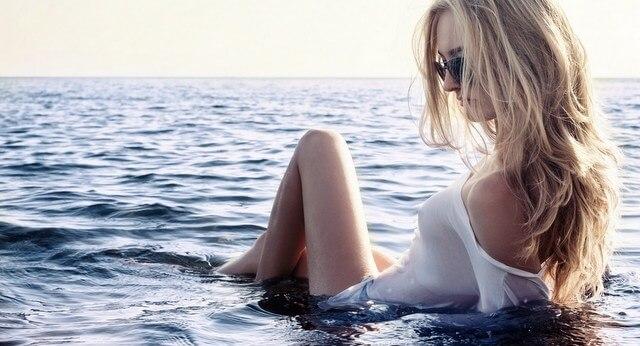 Beach woman girl water traveler female RF