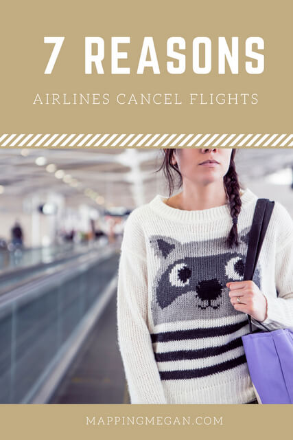 Wondering why the airline cancelled your flight? We might roll our eyes but there IS always a reason. Click for the most common causes of cancelled flights.