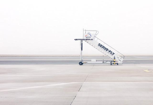 Airport runway missing plane RF