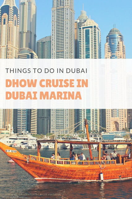 When it comes to things to do in Dubai, taking a Dhow Cruise in Dubai Marina makes for fantastic sightseeing.
