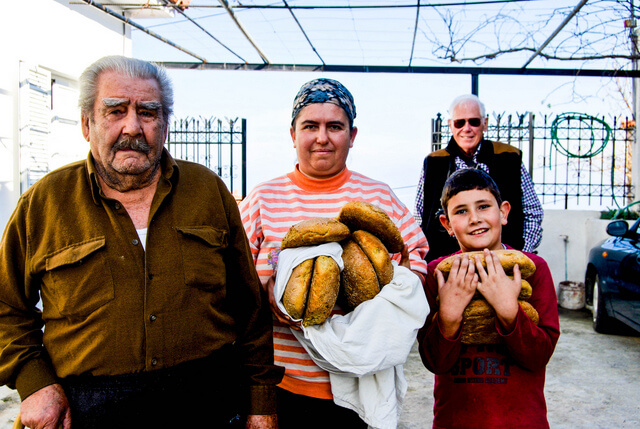 Greek food with locals