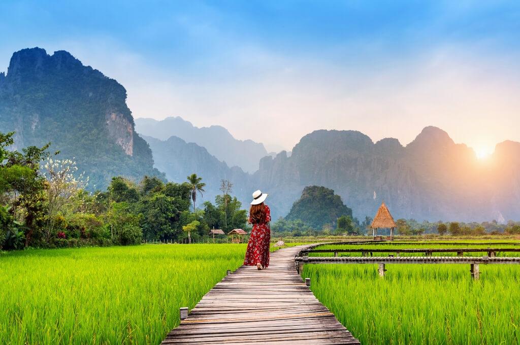 SE Asia traveler female girl woman RF