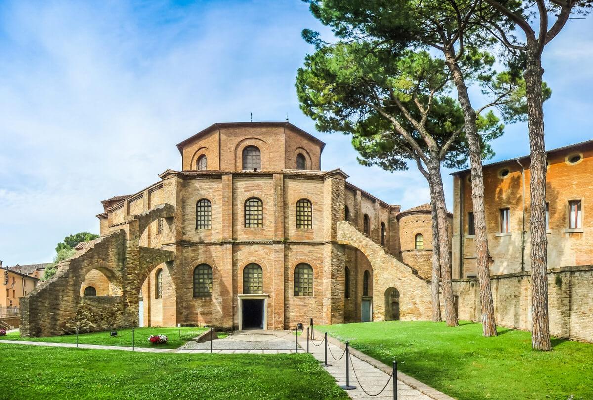 Famous Basilica di San Vitale in Ravenna, Italy RF