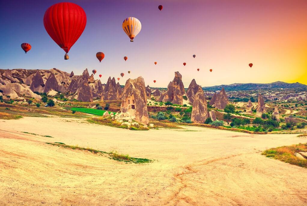 Goreme National Park and Cappadocia Hot Air Ballooning Turkey RF Canva