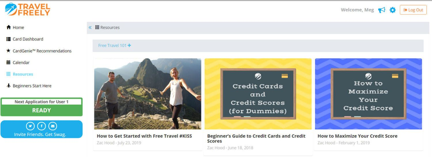 Travel Freely best credit cards for free travel