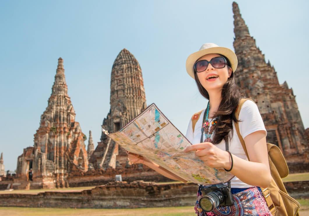 Female traveler girl SE Asia RF