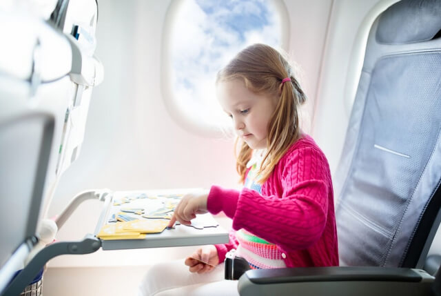 Tips for First Time Flying with Children RF Canva
