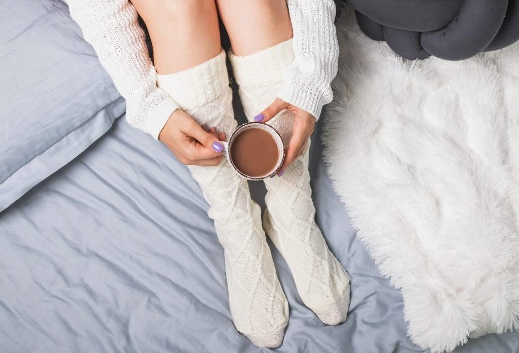 Wool socks coffee drink RF