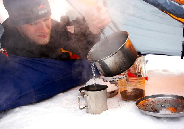 Camp food snow tent RF