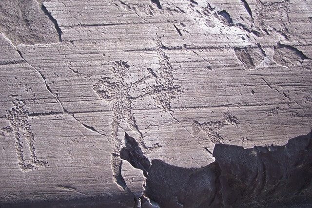 Rock Drawings in Valcamonica Italy