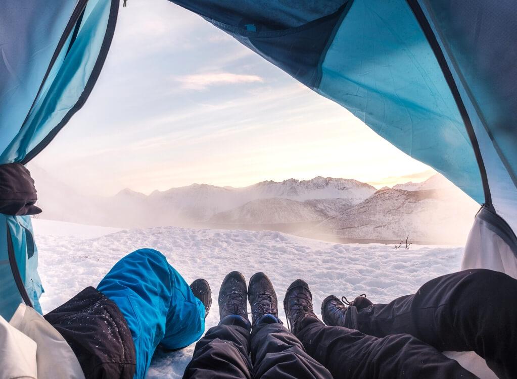 Tent camping snow RF