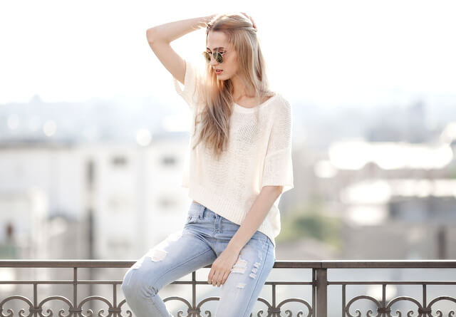 Jeans woman female fashion RF