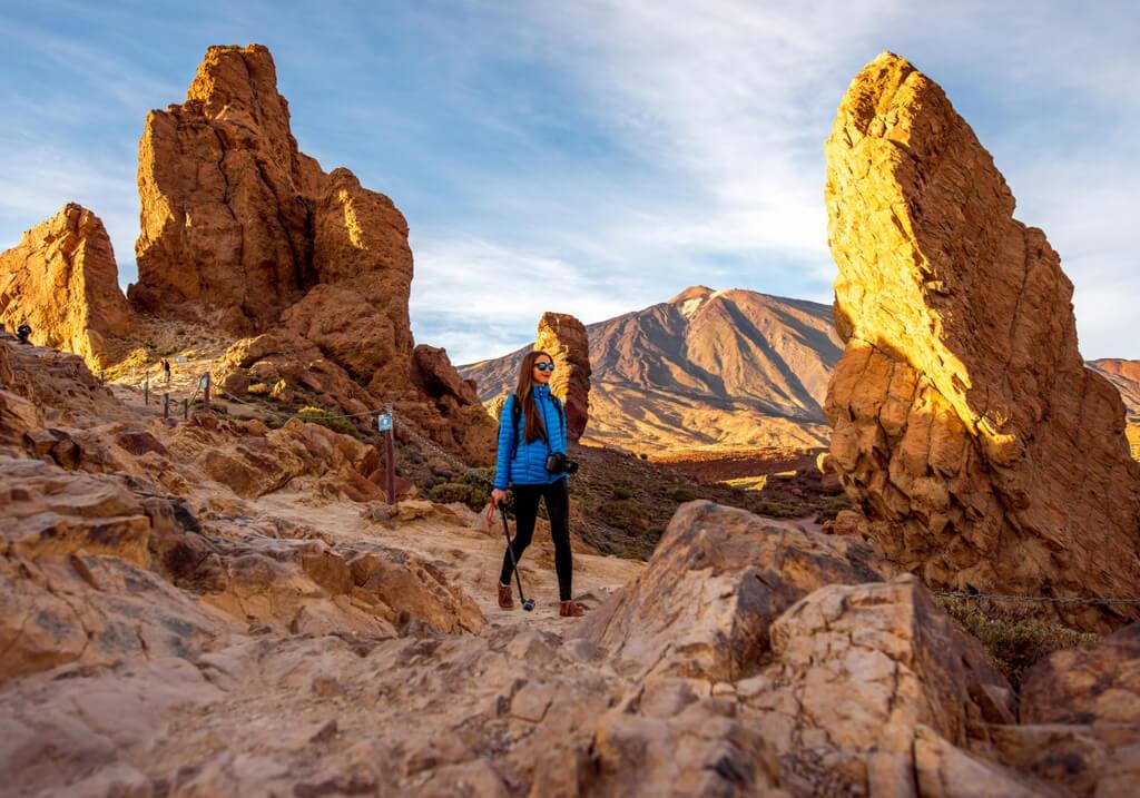 Teide National Park Tenerife Canary Islands Spain Hiking Female Traveler RF