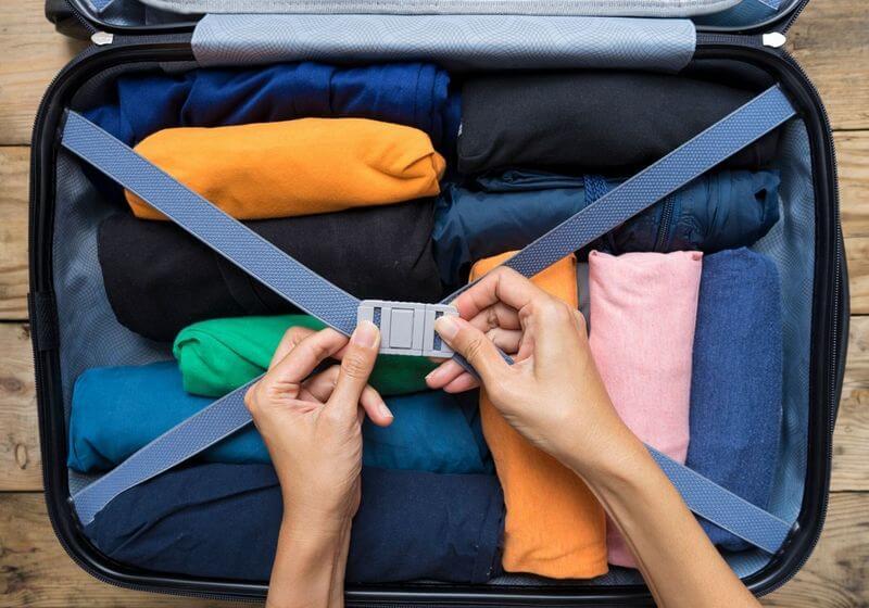 Luggage bag suitcase roll RF