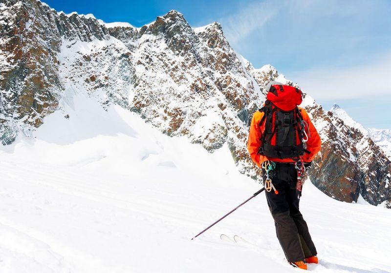 Backcountry ski snow RF