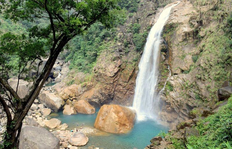 India Rainbow Falls Cherrapunjee Meghalaya