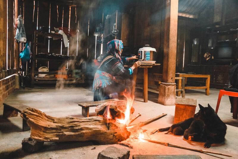 Homestay Black H'Mong People Vietnam