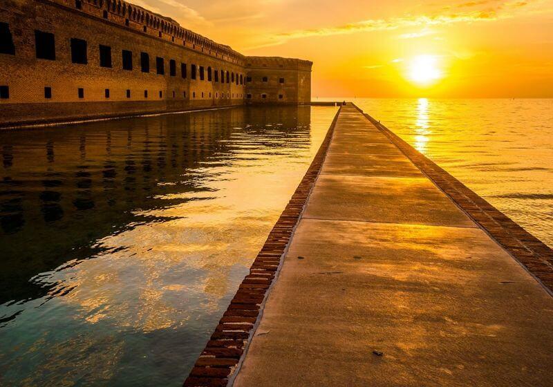 Fort Jefferson Florida Sunset RF