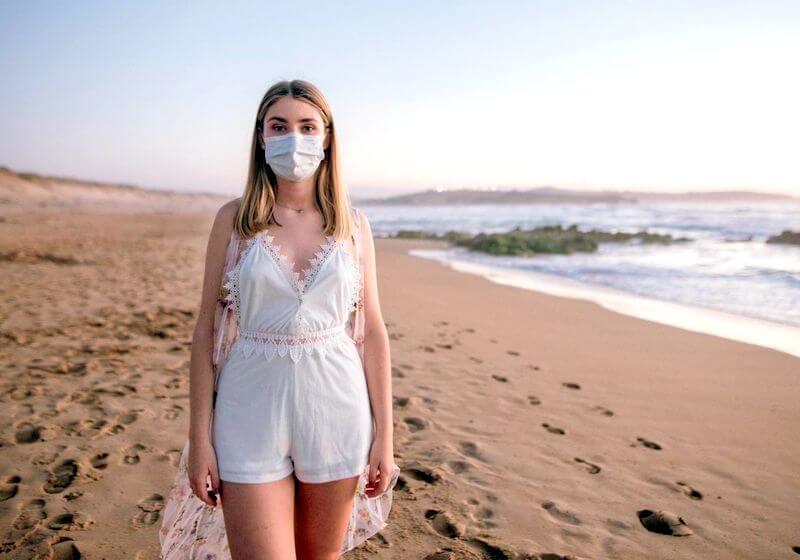Beach mask COVID 19 RF