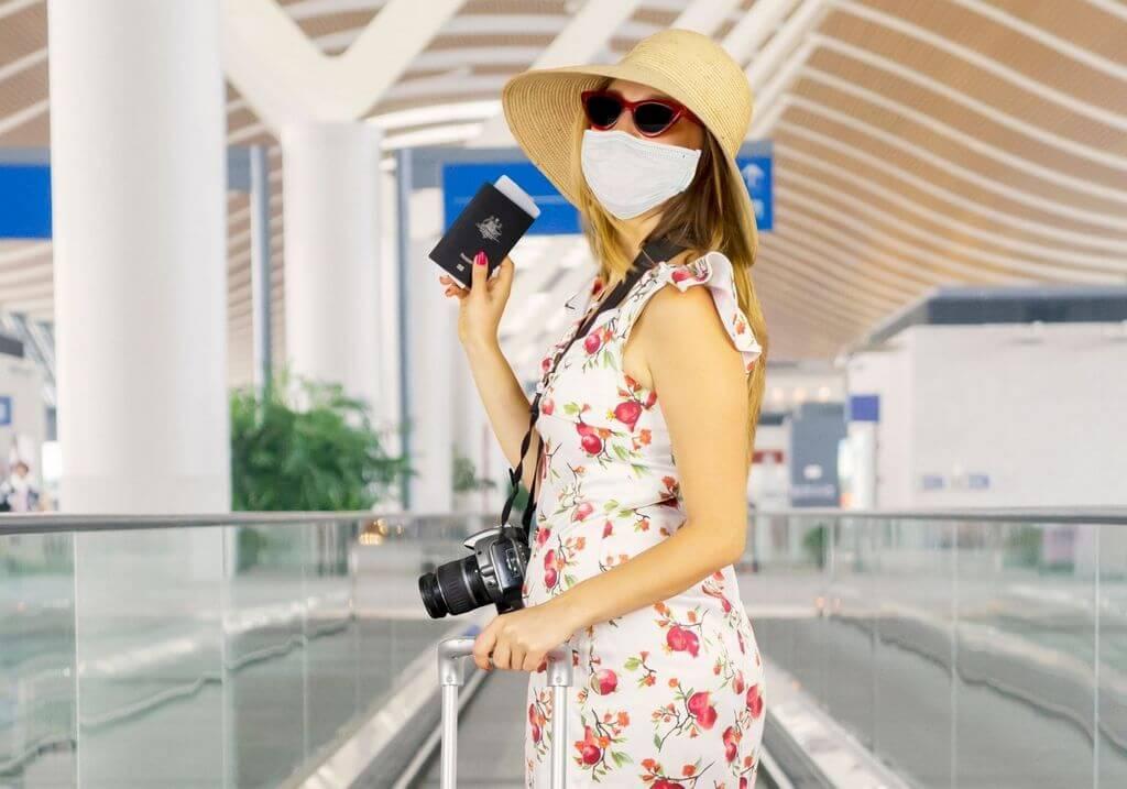 Airport travel mask passport RF