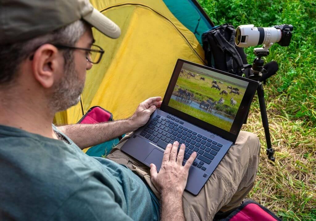 Laptop camera tent computer camping RF